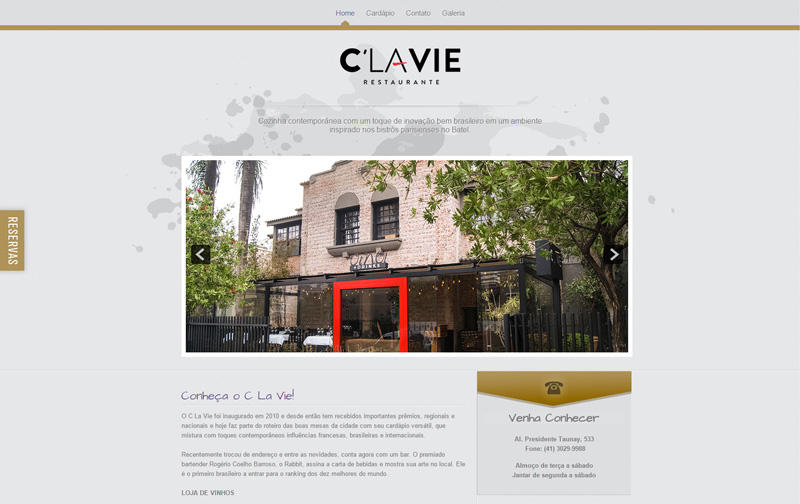 Website C La Vie Restaurante
