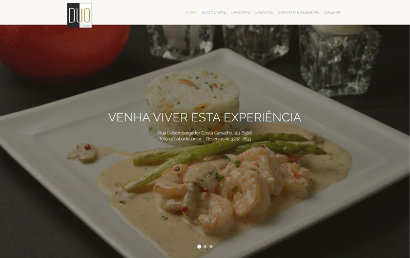 Website Duo Cuisine