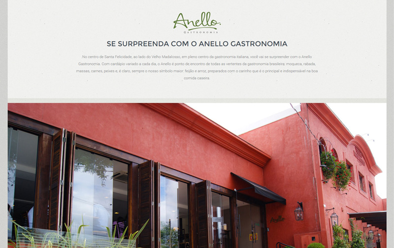 Website Anello Gastronomia